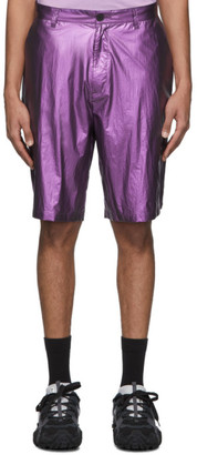 Robert Geller Purple The Shiny Shorts