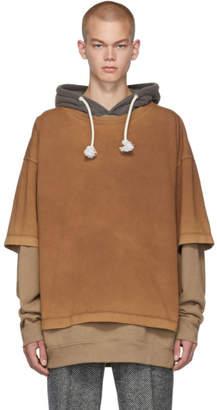 Maison Margiela Brown Overdyed Garment Hoodie