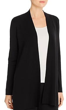 Eileen Fisher System Merino Wool Open-Front Cardigan