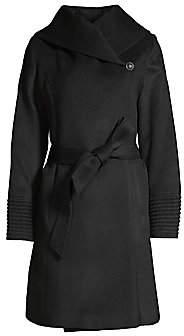 Sentaler Women's Hooded Alpaca Wrap Coat