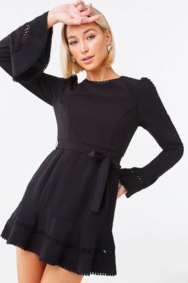 Forever 21 Crochet-Trim Mini Dress