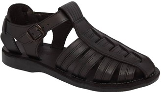 Jerusalem Sandals Men's Leather with Ankle Strap and Buckle