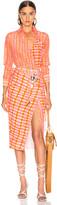 Altuzarra Constantina Plaid Dress in Tropicana | FWRD