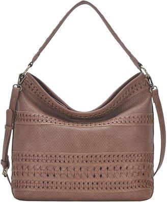 Antik Kraft Braided Faux Leather Hobo Bag