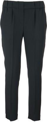 Brunello Cucinelli Silk And Acetate Cady Crepe Tailored Jogger Trousers Lignite