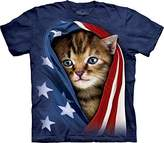 The Mountain Men's the Patriotic Kitten Adult T-Shirt