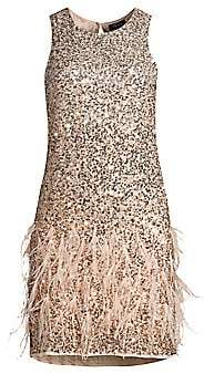 Parker Black Women's Allegra Sequin & Feather Shift Dress