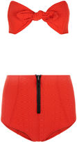 Lisa Marie Fernandez Red Poppy High-Waisted Bikini