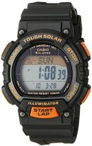 Casio Women's STL-S300H-1BCF Solar Runner Digital Display Black Watch