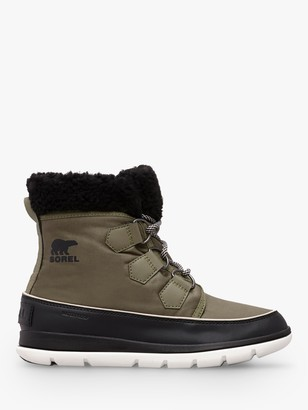 Sorel Carnival Lace Up Ankle Snow Boots, Green