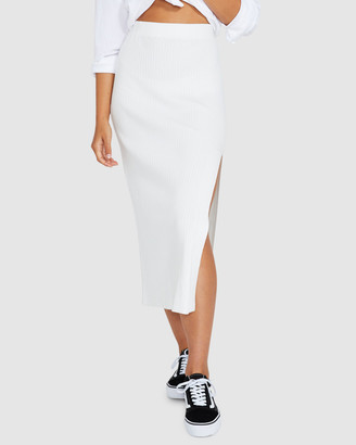 Subtitled Mara Knitted Midi Skirt