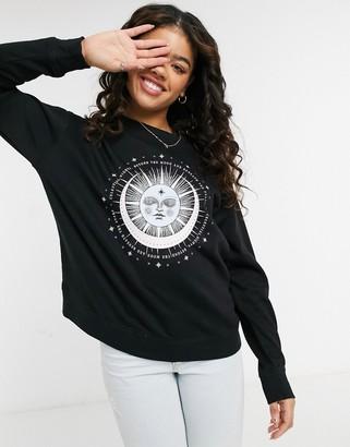 New Look pastel mystic sweatshirt in black