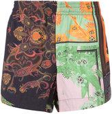 OSKLEN patchwork print shorts - men - Viscose - 40