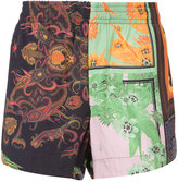 OSKLEN patchwork print shorts - men - Viscose - 42