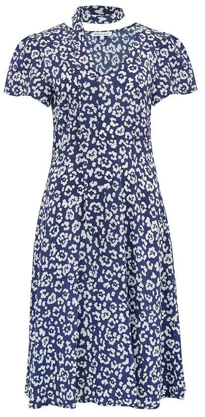 Lily & Lionel Lea Dress in Textured Leopard Navy