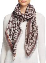 Fraas Animal Print Square Scarf