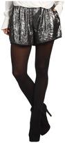 BCBGMAXAZRIA Elastic Waist Shorts (Gunmetal) - Apparel