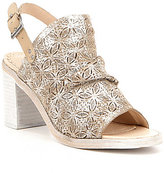 Naughty Monkey Nyxx Metallic Suede Floral Cutout Peep-Toe Shooties