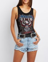 Charlotte Russe American Freedom Graphic Bodysuit