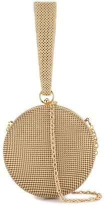 Whiting And Davis Canteen round clutch bag