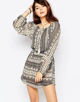 Brave Soul Long Sleeve Boho Dress