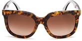 Fendi Oversized Cat Eye Sunglasses, 54mm