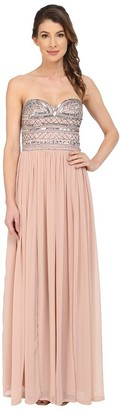 Aidan Mattox Aidan Women's Strapless Prom Gown with Sequin Bodice and Skirt