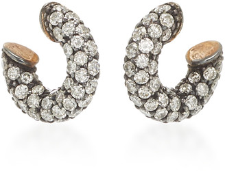 Gioia Bini Pirate 18K Gold, Oxidized Silver And Diamond Earrings