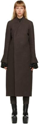 Rick Owens Brown Museum Coat