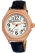 Breed Rose Gold & White Arthur Automatic Leather-Strap Watch