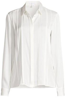 HUGO BOSS Besana Crepe De Chine Stretch Silk Blouse