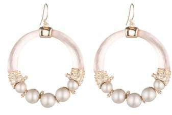 Alexis Bittar Shell Pearl Hoop Earrings