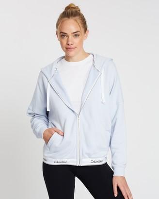 Calvin Klein Modern Full Zip Oversized Hoodie