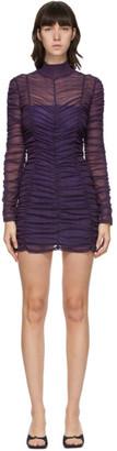 Eckhaus Latta Purple Scrunch Short Dress