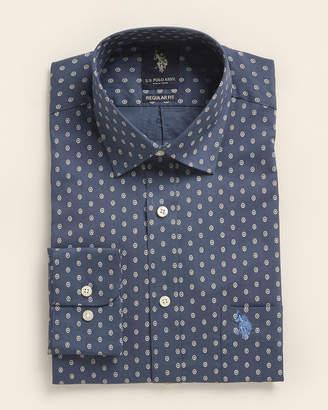 U.S. Polo Assn. Regular Fit Paisley Dot Dress Shirt