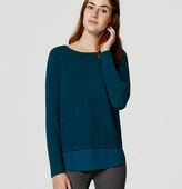 LOFT Mixed Media Shirttail Sweater