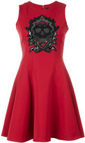 Philipp Plein embellished skull flared shift dress
