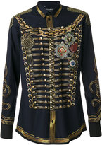 Dolce & Gabbana military jacket print shirt - men - Cotton - 39