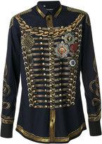 Dolce & Gabbana military jacket print shirt