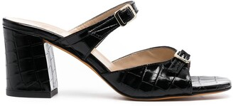 Maryam Nassir Zadeh Uma crocodile-effect sandals