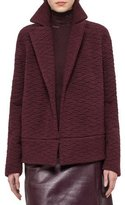 Akris Elephant Skin Embroidered Jacket, Aubergine