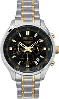 Seiko Men's Chronograph Special Value Two-Tone Stainless Steel Bracelet Watch 43mm