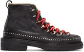 Rag & Bone Black Leather Compass Lace-Up Boots