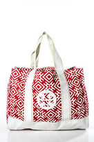 Tory Burch Multi-Color Canvas Abstract No Closure Tote Handbag Size Large