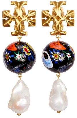 Tory Burch Roxanne Ceramic Pearl Drop Earring