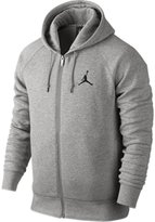 Nike Men's Jordan 24/7 Brushed Fleece FZ Hoodie - Dk Grey Heather 2XL