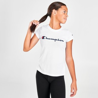 Champion Girls' Signature Script Graphic T-Shirt