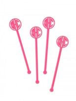 BaubleBar Acrylic Monogram Drink Stirrers (Set of 4)