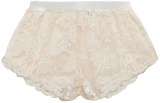 Cosabella Rosie Embroidered Tulle Pajama Shorts