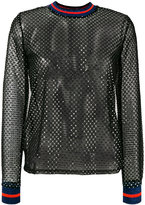 Zoe Karssen sequin mesh top - women - Polyester/Spandex/Elastane/glass/Polybutylene Terephthalate (PBT) - S